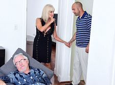 64-year-old Leah bonks. Her husband watches.
